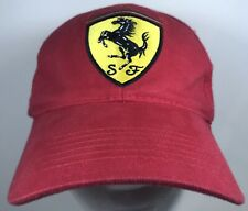 Ferrari Cap Official Race Hat Red Sportscar Racing Speed Fast Exotic Car Auto