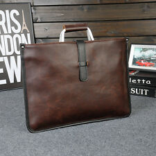 Mens Business Leather Briefcase Handbag Laptop Messenger Bag Shoulder Bag Brown