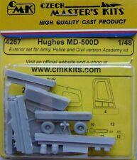CMK 1/48 Hughes MD-500D Exterior Set armée, police civile et pour Academy # 4267