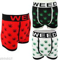 Mens Shorts Weed Kush Marijuana Cannabis Leaf Boxers Underwear Pack Of 3