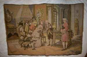 Tapestry Wall Hanging Made in France -- Signed by Marchetti