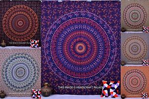 INDIEN HIPPIE BOHEMIAN MANDALA TAPESTRY QUEEN WALL HANGING COTTON THROW BOHO ART