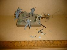 1/32 Plastic WW2 German and British Desert Rat Soldiers with resin diorama base