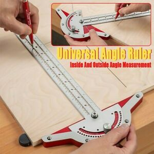 Woodworkers Edge-Rule Adjustable Protractor Angle Finder Caliper Stainless Steel