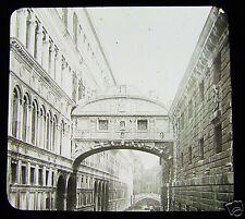 Glass Magic lantern slide THE BRIDGE OF SIGHS VENICE C1890 ITALY
