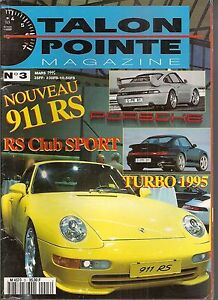TALON POINTE 3 PORSCHE 993 CARRERA RS 968 356 A 1600 930 TURBO 3.0 911 S 2.0