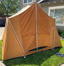 Vintage 1973 Coleman Holiday Burnt Orange Canvas 10x8 Tent Near Mint Condition
