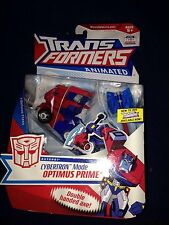 TRANSFORMERS ANIMATED Deluxe Autobot Cybertronian Mode Optimus Prime New Misb