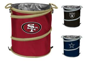 Logo Brands NFL Collapsible 3 in 1 Pop-Up Cooler Hamper Trash Can