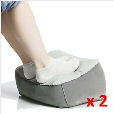 Inflatable Travel Foot Rest Footrest Pillow Helps Reduce DVT Risk on Flights x 2