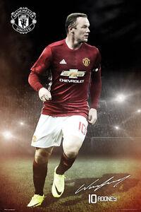 WAYNE ROONEY - MANCHESTER UNITED POSTER - 24x36 FOOTBALL SOCCER FC 34181