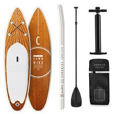 Paddle Board SUP Stand UP Surf Gonfiabile Runner Padding 305x10x77cm Legno