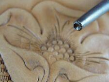 Vintage Leather Stamping Tool - Lined Seeder Stamp