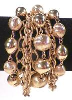 Vintage Goldtone Chain Link Bracelet Chunky Statement A Beauty #33
