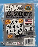 BMC Toys 1:32 54mm WWII US Marines Raft Paratrooper Plastic Bag Kit #48506