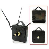 Black Quartz Wall Clock Movement Mechanism Black Hands DIY Repair Parts Kit