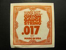 Ernie Ball Custom Guage String .017 Made In USA. 1017 Single String.