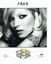 Publicité Advertising 088  2010   Fred  joaillier Kate Moss bracelets force 10 *