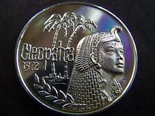 1974 Cleopatra GIFTS TO CAESAR Fine Silver Mardi Gras Doubloon-Serial No. 484