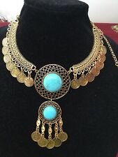 Unique Egyptian Bedouin(Tribal Style)Belly Dance Custume Necklace Handmade!!!WOW