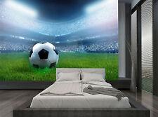 Football Soccer Ball Stadium Lights Wall Mural Photo Wallpaper GIANT WALL DECOR