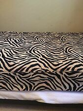 Custom Daybed Cover In Leopard Woven Fabric