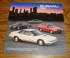 Original 1987 Subaru Full Line Deluxe Sales Brochure 87 BRAT XT Coupe Sedan