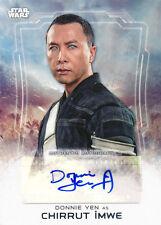 2016 Star Wars: Rogue One Series One Donnie Yen Chirrut Imwe Autograph Auto