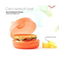 Brand New Tupperware Round Sandwich Keeper- With Smidget-free Shipping