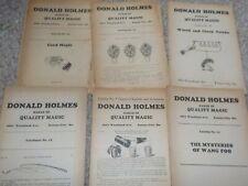 7 Donald Holmes Catalogs no 10,15,14,13,11,12,9 1927-28