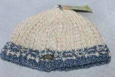 DOHM Wool Beanie Knit Hat Winter Hat White Cream Light Blue NEW WITH TAGS CHILD