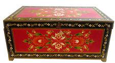 Arredamento etnico cassapanca  legno massello dipinta Tibet