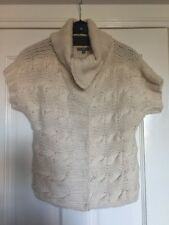 Gap Cream Cable Knit Wool Alpaca Mix Gilet Cardigan Size S VGC