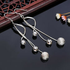 KD_ FH- Women's Long Tassel Chain Drop Dangle Hook Earrings Statement Jewelry