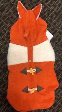 NEW Top Paw® Orange Fox Pet Coat Sweater Size M Corduroy Sherpa