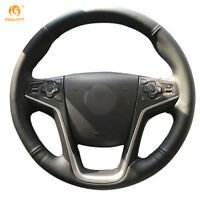 Black Leather Steering Wheel Cover for Buick Lacrosse 2013-2015 #OB16