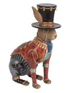New! Steampunk Rabbit Bunny Hare Figurine Statue Easter Spring Home Decor