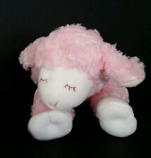 Baby Gund Pink Winky Lamb Sheep 8.5 Inches Infant Toy White Feet