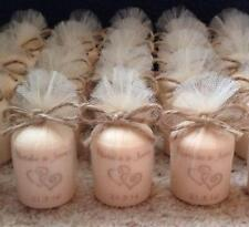 Personalised Vintage Style Candle Midsize Wedding Favours (Set of 5)