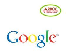 Google Sticker Vinyl Decal 4 Pack