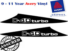 D4D TURBO Decal Sticker for Hilux 3 Fin Scoop 2012 to Current 4X4