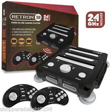 RetroN 3 3in1 Retro Console for Nintendo NES SNES Sega Genesis Games -Black