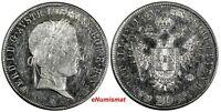 AUSTRIA Ferdinand I (1835-1848) Silver 1841-A 20 Kreuzer Vienna aUNC KM# 2208