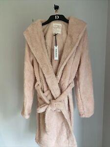 Debenhams Rabbit Shaggy Fleece Robe Uk 8-10