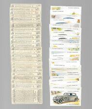CIGARETTE CARDS. John Player Tobacco. Motor Cars 2nd. (Full Set of 50). (1937).