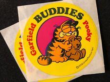 LOT OF 2  VINTAGE 80's GARFIELD & POOKIE BUDDIES  STICKERS 1 1/2x 1 1/2