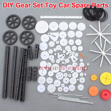 Toy Car&Boat Parts Gear Pack New Gear Set Car Wheel/Shaft/Axles/Belts/Worm/Rack