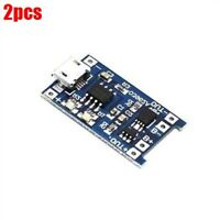 2Pcs Lithium Battery Charging Board Charger Module 5V Micro Usb 1A 18650 Ic N nt
