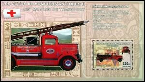 Congo 2006 MNH MS, Antique Fire Brigade, Red Cross, Seagrave 1927, Transport