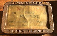 Vintage Ohio Fishing License Badge Pinback